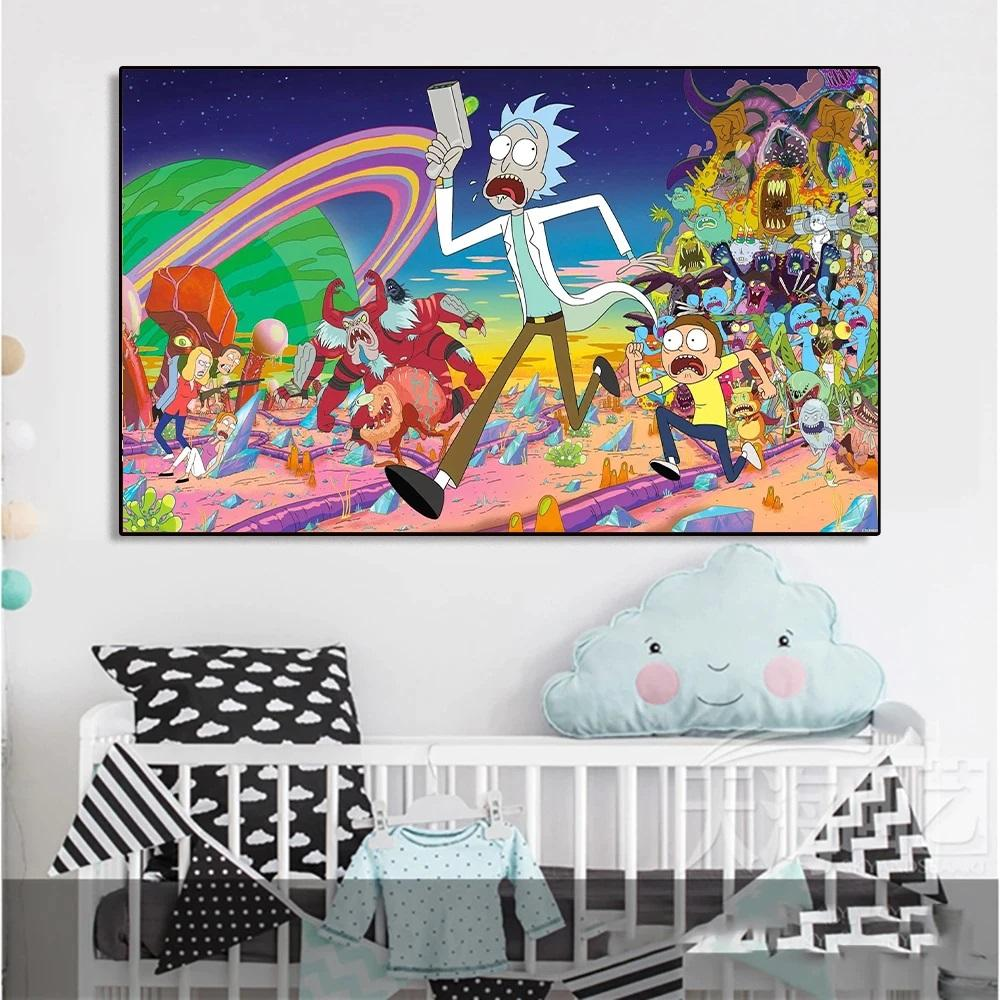 Rick and Morty Monters Canvas Wall Art