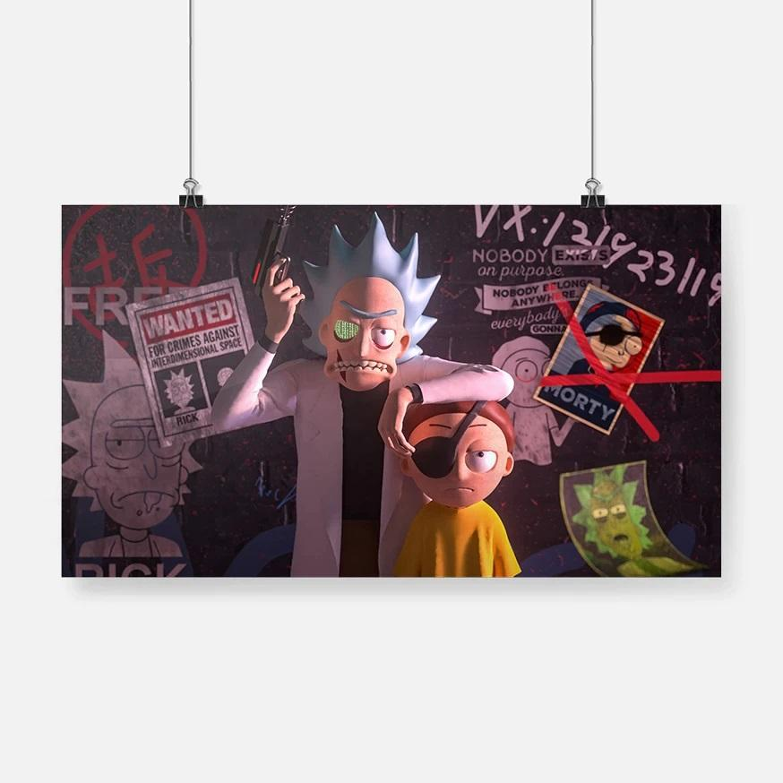 Evil Rick and Morty Canvas Painting Wall Art