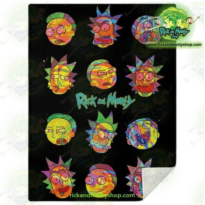 Face Cplorfull Rick & Morty 3D Microfleece Blanket M Premium - Aop