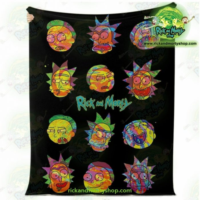 Face Cplorfull Rick & Morty 3D Microfleece Blanket Premium - Aop