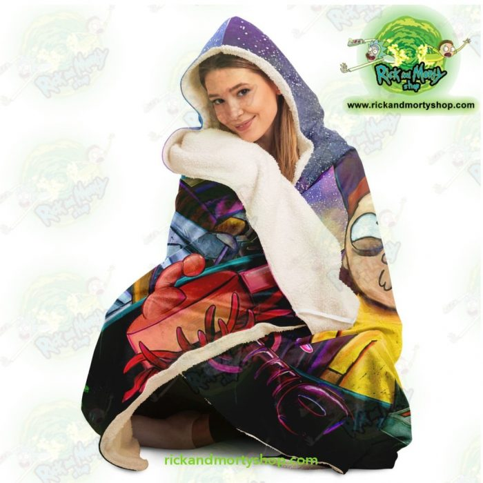 Funny Rick And Morty Hooded Blanket - Aop