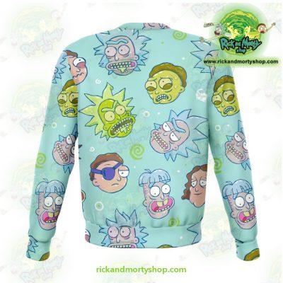 Funny Rick & Morty Face 3D Sweatshirt Athletic - Aop