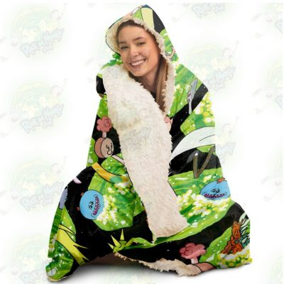 Hot Rick And Morty 3D Hooded Blanket - Aop