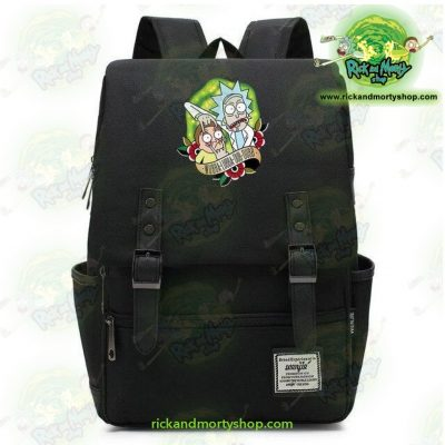 Hot Rick And Morty Travel Backpack Black / 14 Inch