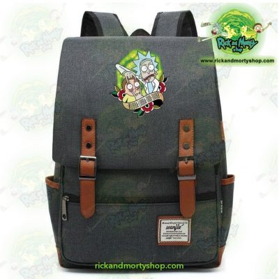 Hot Rick And Morty Travel Backpack Dark Grey / 14 Inch