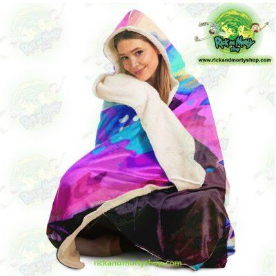 New Face Rick Sanchez 3D Hooded Blanket - Aop
