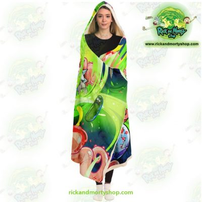 New Rick And Morty 3D Hooded Blanket Fashion - Aop
