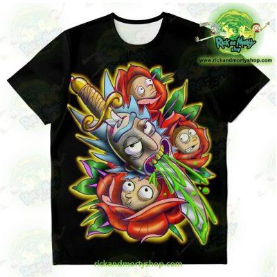 New Rick & Morty 3D Design T-Shirt Xs