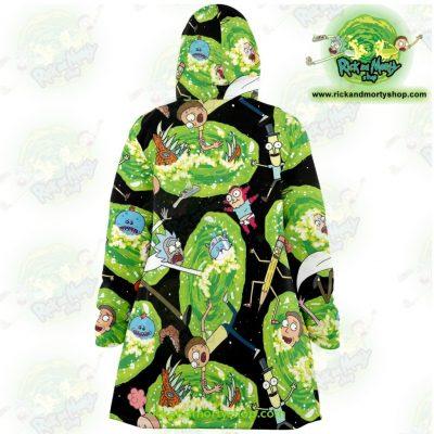 Rick And Morty 3D Dream Cloak Coat Fashion 2021 Microfleece - Aop