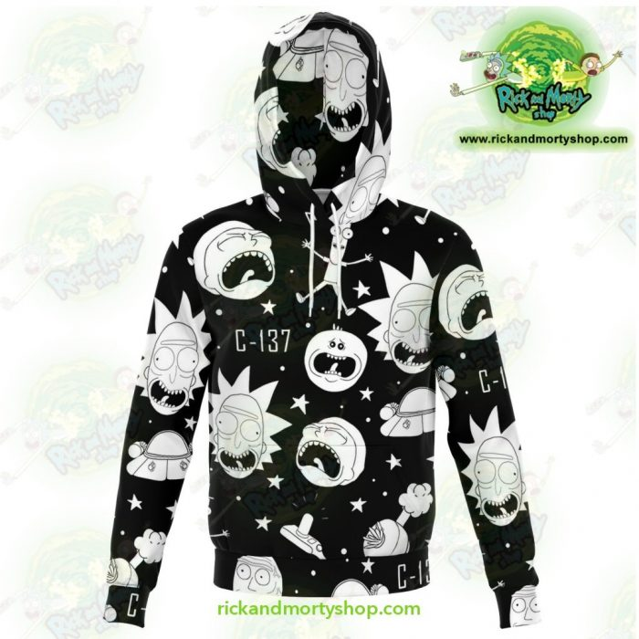 Rick And Morty 3D Hoodie Crazy C137 Xs Athletic - Aop
