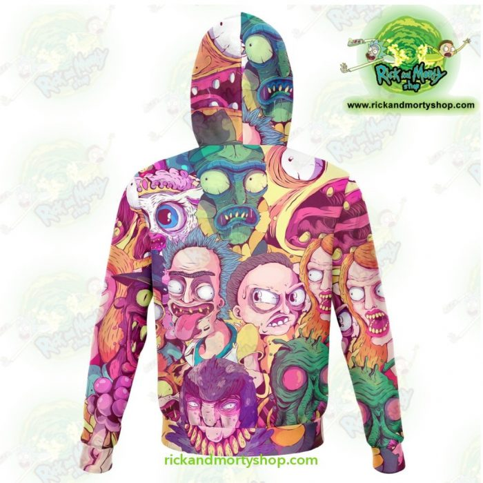 Rick And Morty 3D Hoodie Water Color Style Athletic - Aop