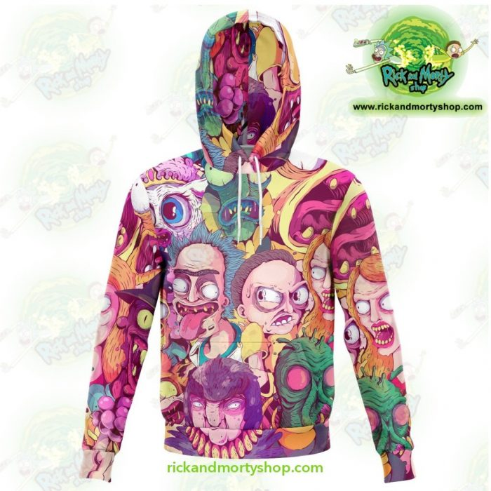 Rick And Morty 3D Hoodie Water Color Style Xs Athletic - Aop