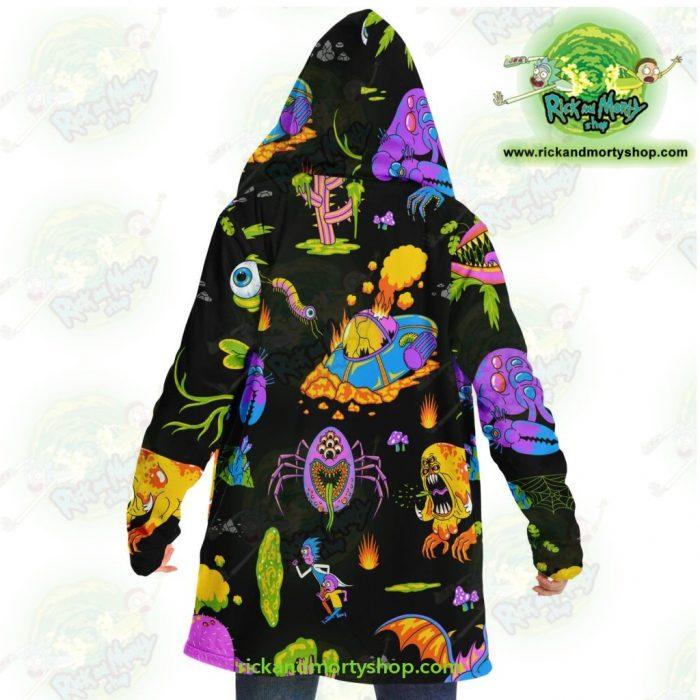 Rick And Morty Alien Dream Cloak Coat Microfleece - Aop