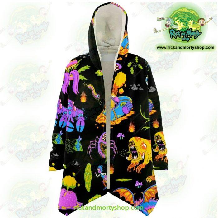 Rick And Morty Alien Dream Cloak Coat Xs Microfleece - Aop