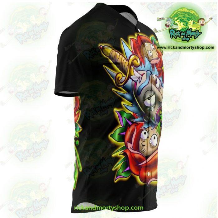 Rick And Morty Baseball Jersey - 3D Design Streetwear Aop