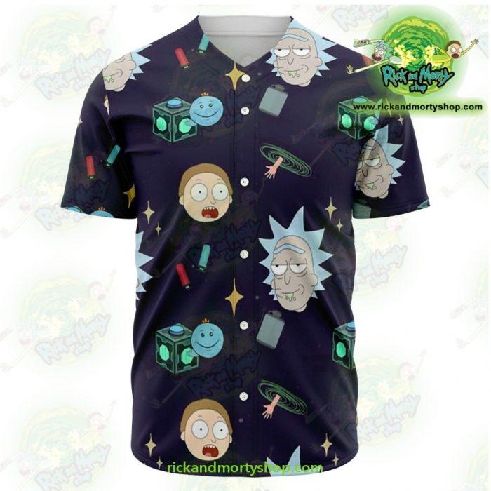 Rick And Morty Baseball Jersey Cute Fashion Xs - Aop