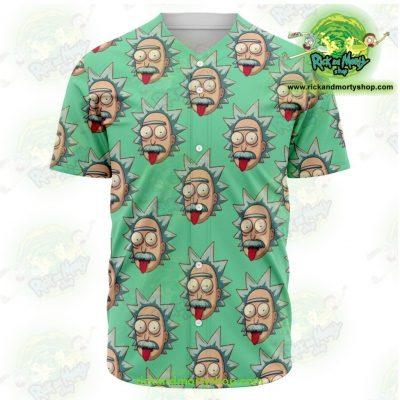 Rick And Morty Baseball Jersey - Funny Face Sanchez Xs Aop