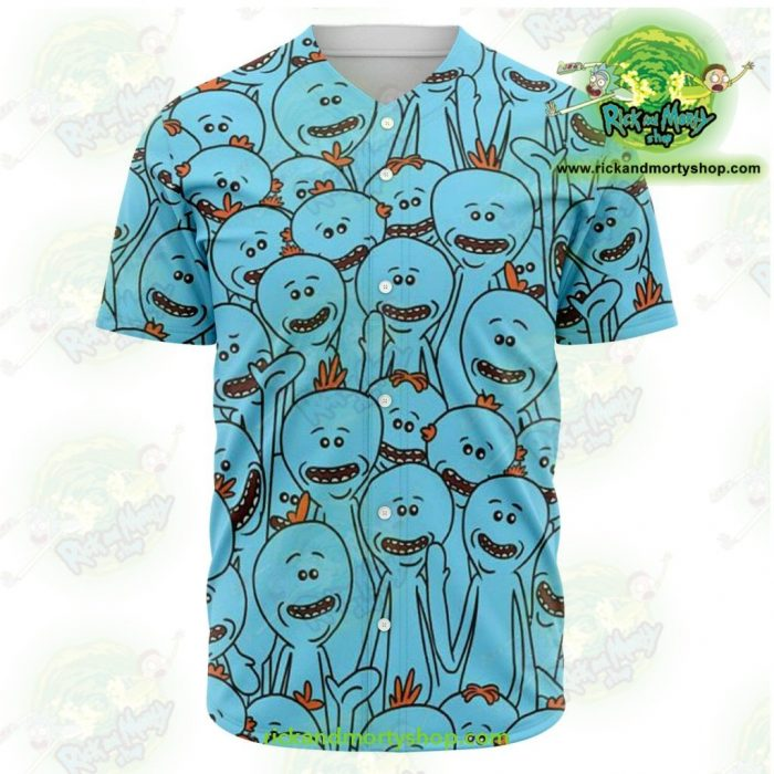 Rick And Morty Baseball Jersey - Many Meeseeks Xs Aop