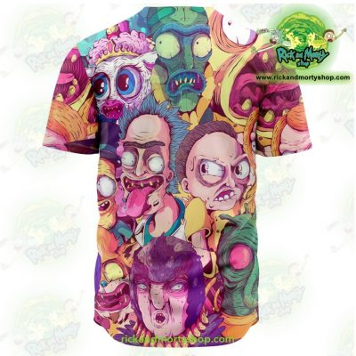 Rick And Morty Baseball Jersey Water Color Style - Aop