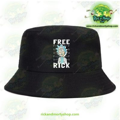 Rick And Morty Bucket Hat - Free Black