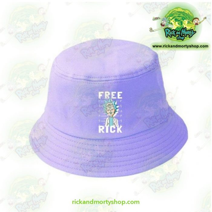 Rick And Morty Bucket Hat - Free Blue
