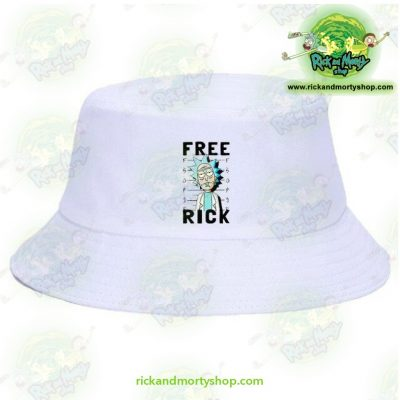 Rick And Morty Bucket Hat - Free White