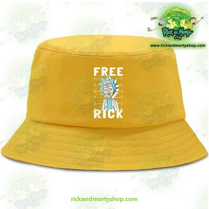 Rick And Morty Bucket Hat - Free Yellow