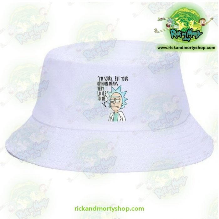 Rick And Morty Bucket Hat - Im Sorry White