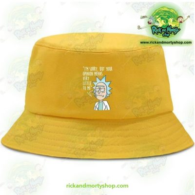 Rick And Morty Bucket Hat - Im Sorry Yellow