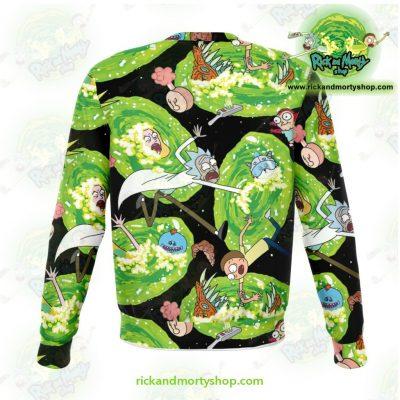 Rick And Morty Colorfull 3D Sweatshirt Athletic - Aop