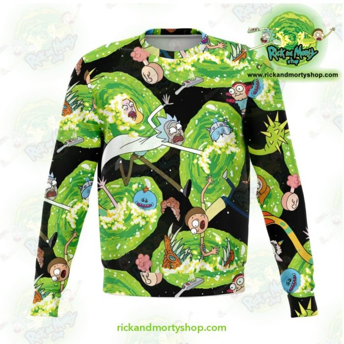 Rick And Morty Colorfull 3D Sweatshirt Xs Athletic - Aop
