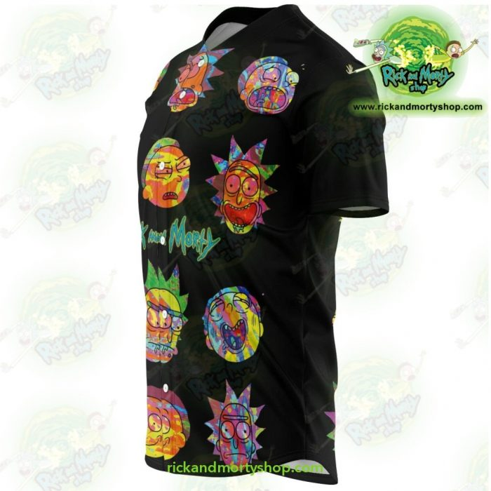 Rick And Morty Colorfull Face Baseball Jersey - Aop