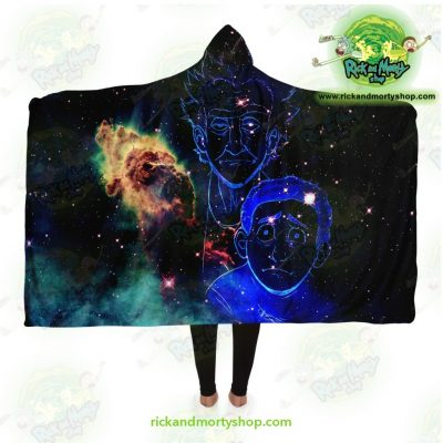 Rick And Morty Constellation Hooded Blanket Adult / Premium Sherpa - Aop