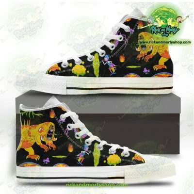 Rick And Morty Converse Shoes - Alien Monters Us 5