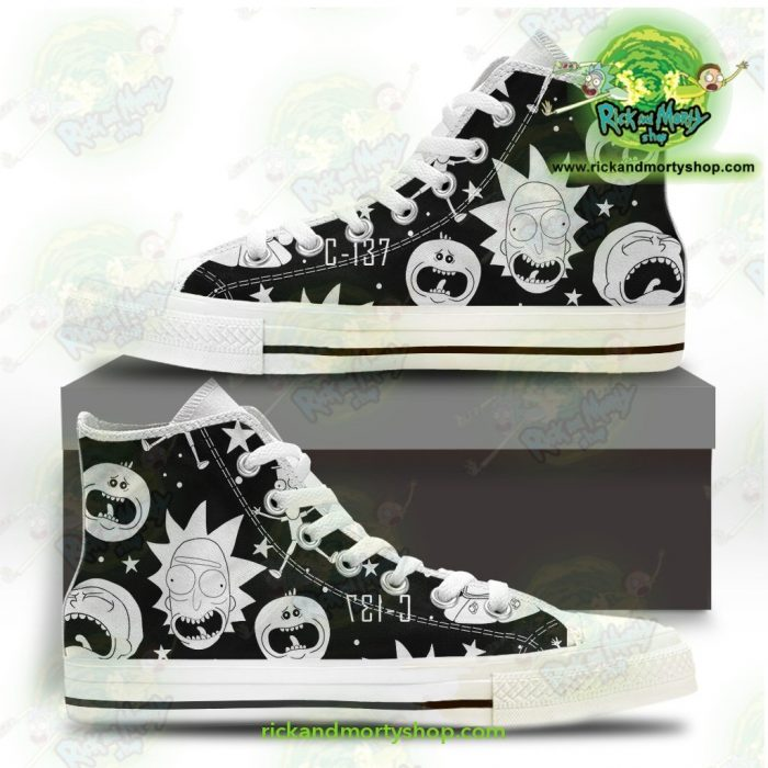 Rick And Morty Converse Shoes - Crazy C137 Us 5