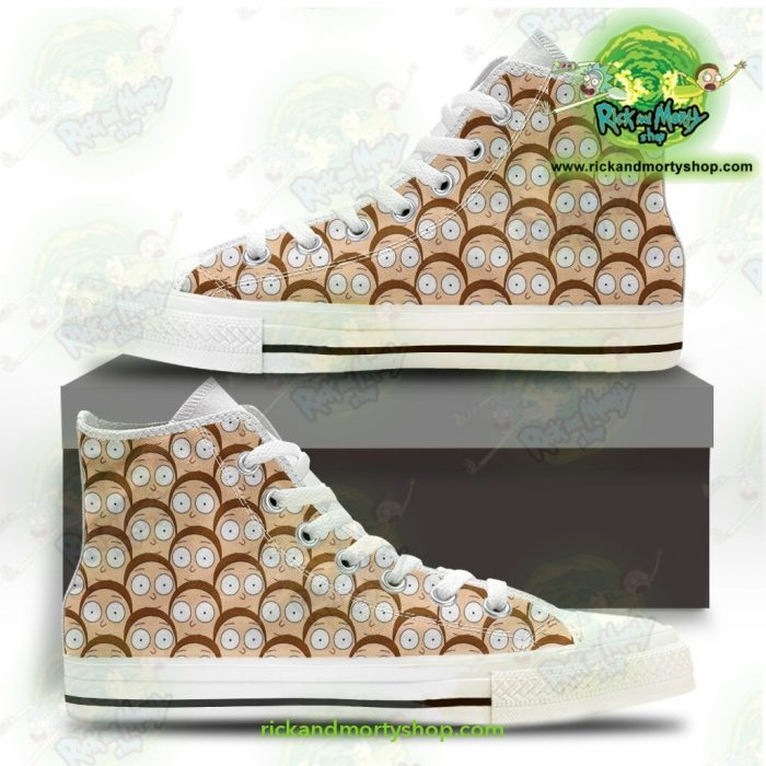 Rick And Morty Converse Shoes - Many Mortys Face Us 5