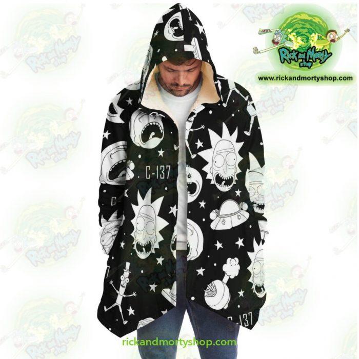 Rick And Morty Dream Cloak Coat - Crazy C137 Microfleece Aop
