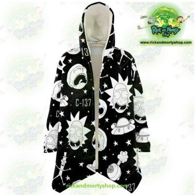 Rick And Morty Dream Cloak Coat - Crazy C137 Xs Microfleece Aop