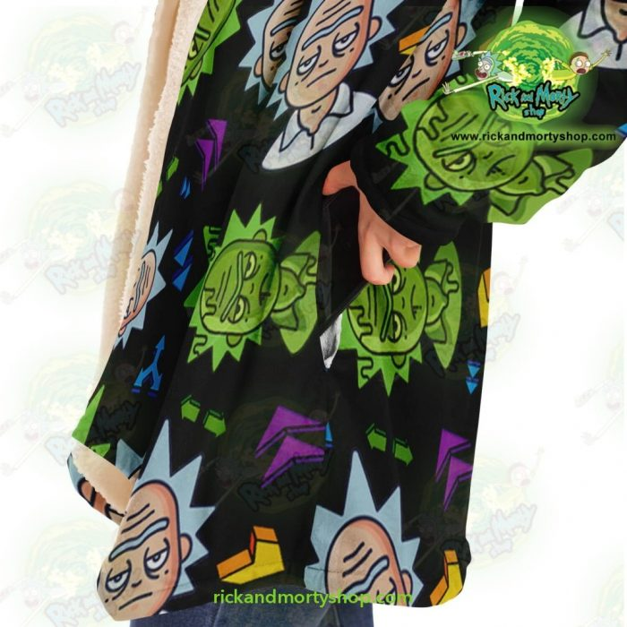 Rick And Morty Dream Cloak Coat - Cute Face Sanchez Microfleece Aop
