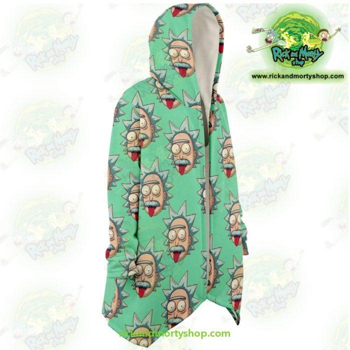 Rick And Morty Dream Cloak Coat - Funny Face Sanchez Microfleece Aop