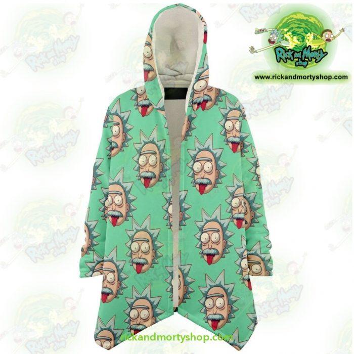 Rick And Morty Dream Cloak Coat - Funny Face Sanchez Xs Microfleece Aop