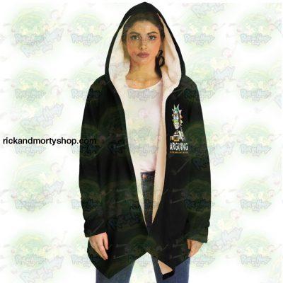 Rick And Morty Dream Cloak Coat - Im Not Arguing Microfleece Aop
