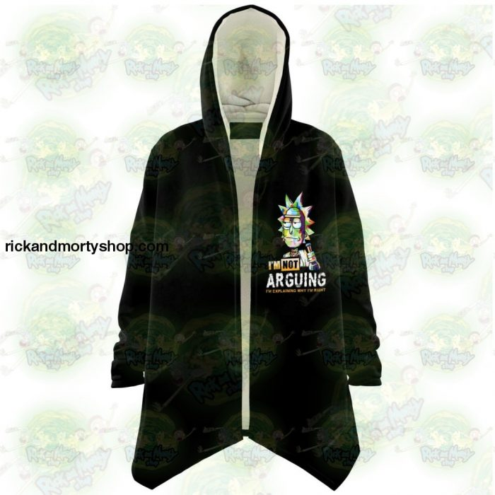 Rick And Morty Dream Cloak Coat - Im Not Arguing Xs Microfleece Aop