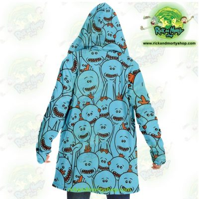 Rick And Morty Dream Cloak Coat - Many Meeseeks Microfleece Aop