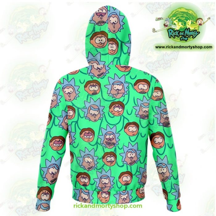 Rick And Morty Facial Expression 3D Hoodie Athletic - Aop