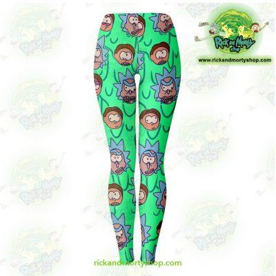 Rick And Morty Facial Expression 3D Legging Leggings - Aop