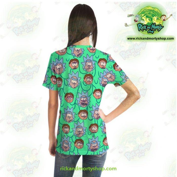 Rick And Morty Facial Expression 3D T-Shirt