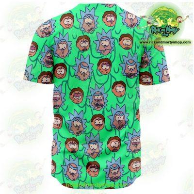 Rick And Morty Facial Expression Baseball Jersey - Aop