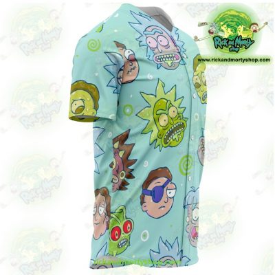 Rick And Morty Facial Expression Baseball Jersey Style 02 - Aop
