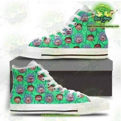 Rick And Morty Facial Expression Converse Shoes Us 5